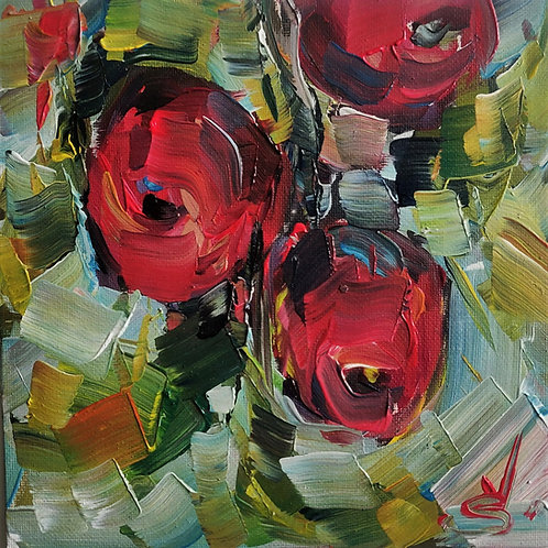 Original Painting 'Three Apples'