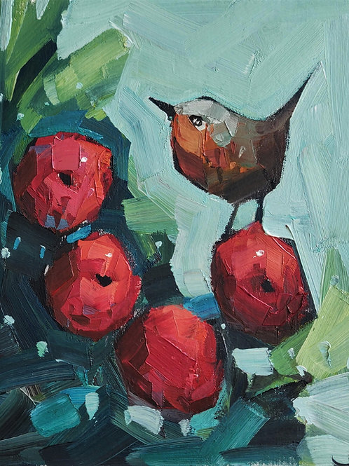 Original Painting 'Robin's Apples'
