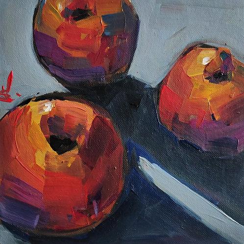 Original Painting 'Three Peaches'