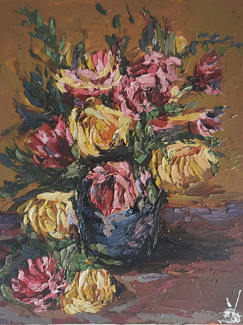 Original Painting 'Rose Vase'