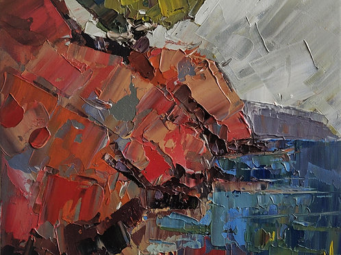 Original Painting 'Red Coast'