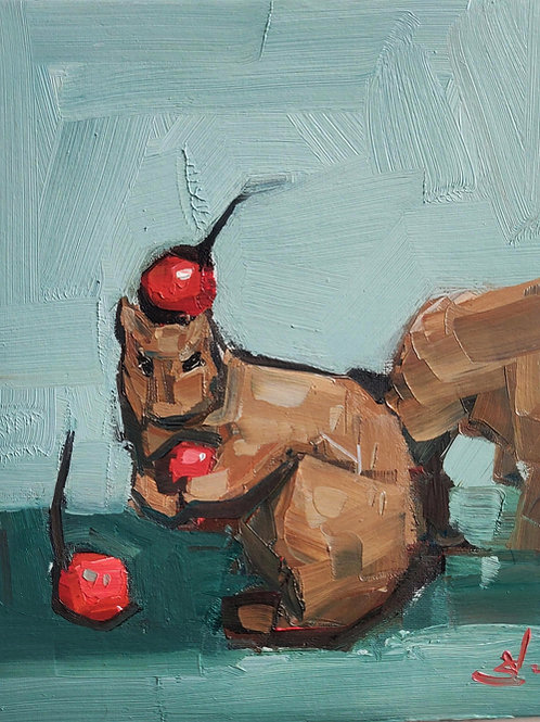 Original Painting 'Squirrel At Play'
