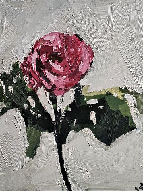Original Painting 'Red Rose Stem'