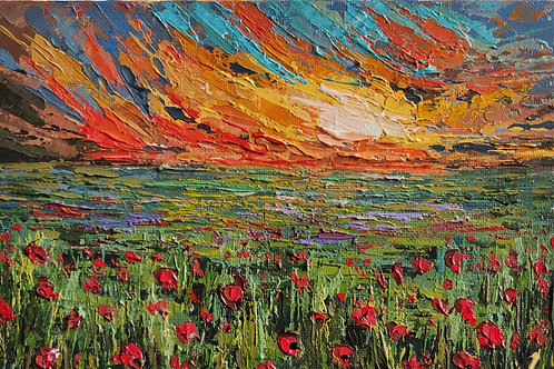 Original Painting 'Sunset Poppies'