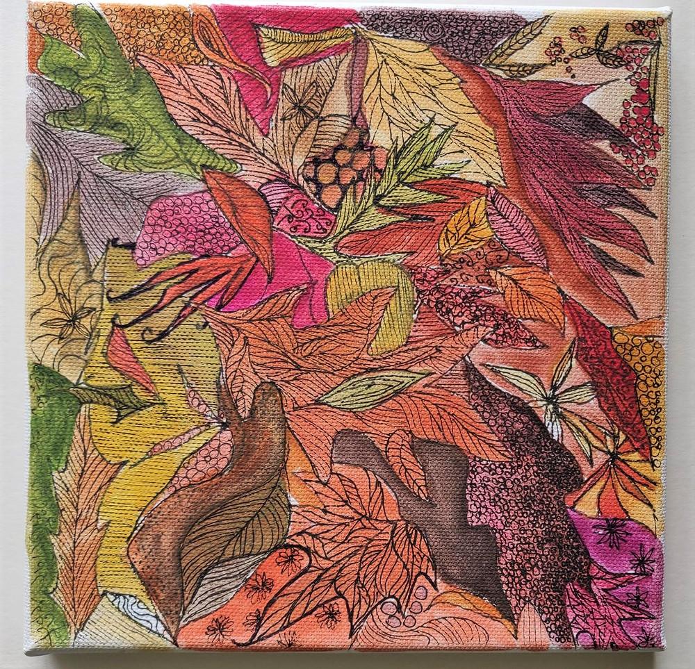 Autumn Floor Illustration