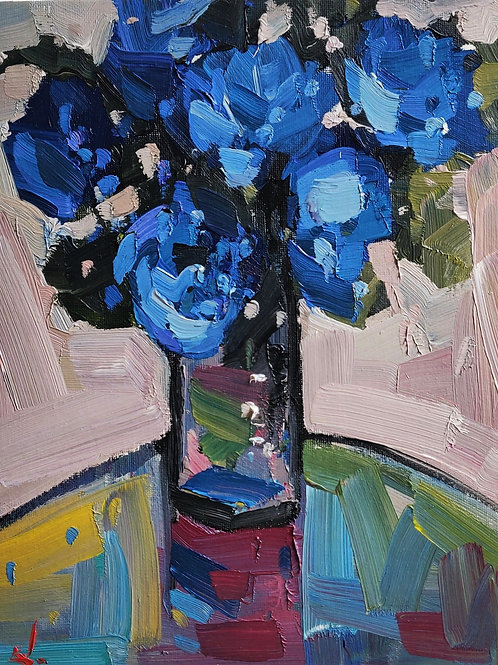 Original Painting 'Blue Flowers'