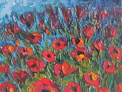 Original Painting 'Poppy Field'