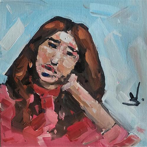Original Painting 'Pink Jumper'