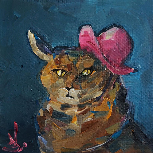 Original Painting 'Pink Top Hat'