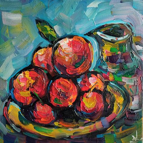 Original Painting 'Fragrant Oranges Still Life'