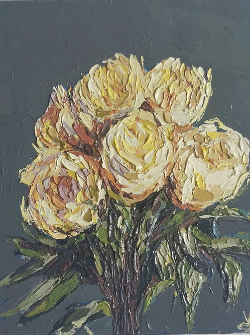 Original Painting 'Yellow Rose Bouquet'