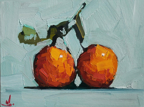Original Painting 'Fresh From The Orange Tree'