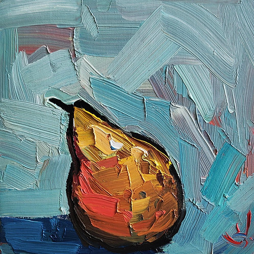 Original Painting 'Fauvist Pear'