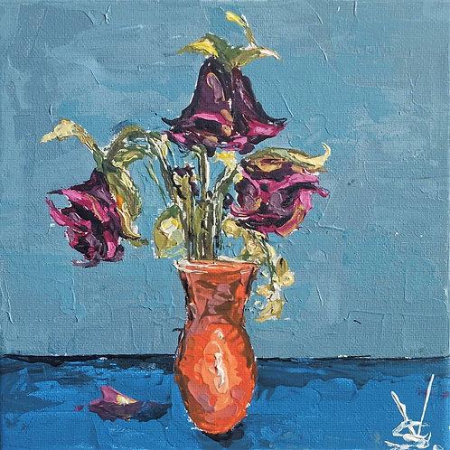 Original Painting 'Orange Vase'