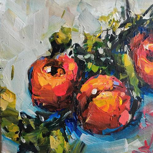 Original Painting 'Peaches Still Life'