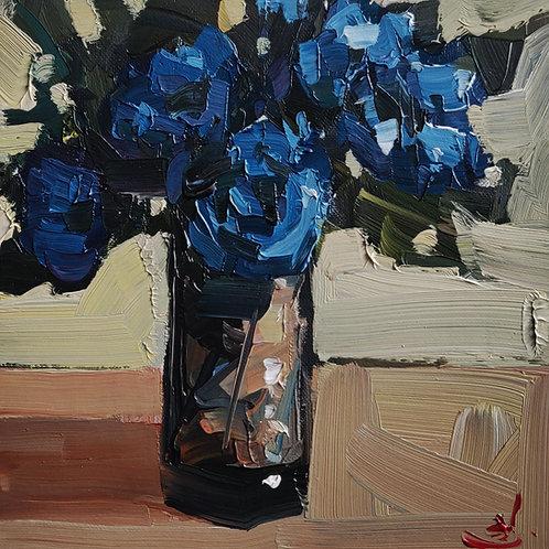 Original Painting 'Blue Roses'