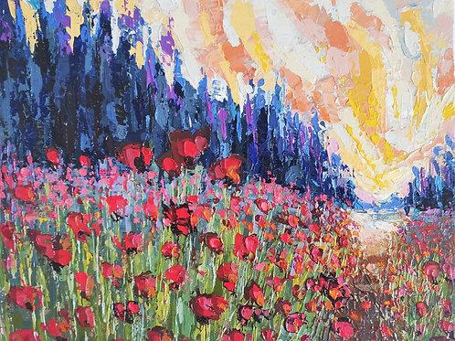 Original Painting 'Good Mourning Poppies'