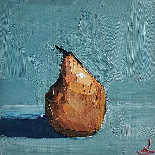Original Painting 'Yellow Pear'