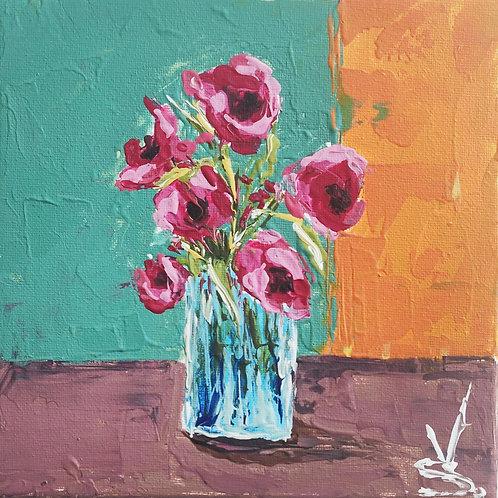Original Painting 'Red Perennials'