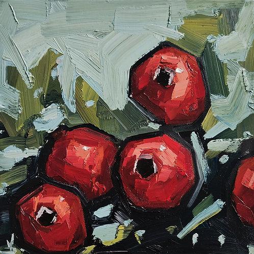 Original Painting 'Pomegranate Tree Branch'