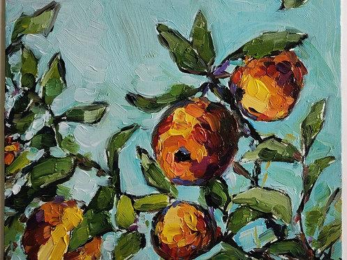 Original Painting 'Swaying Peaches'
