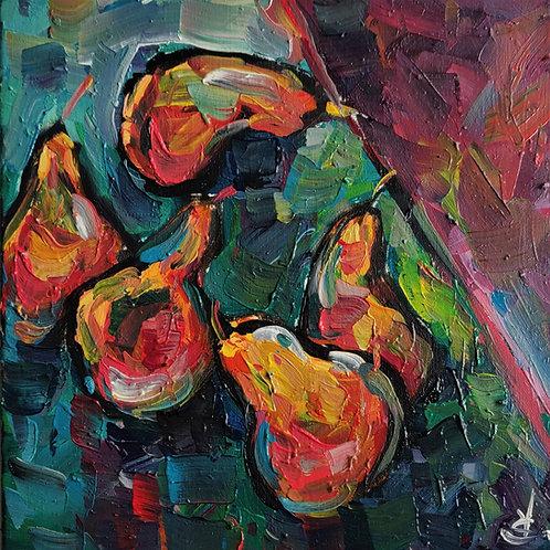 Original Painting 'Dancing Pears'