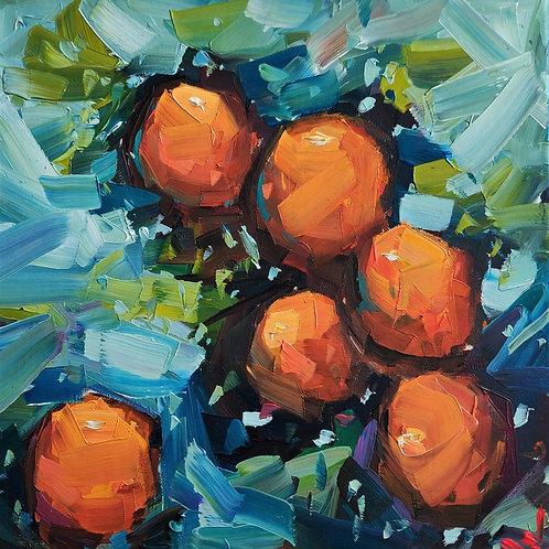 Original Painting 'Orange Tree Branch'