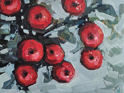Original Painting 'Red Apple Tree'