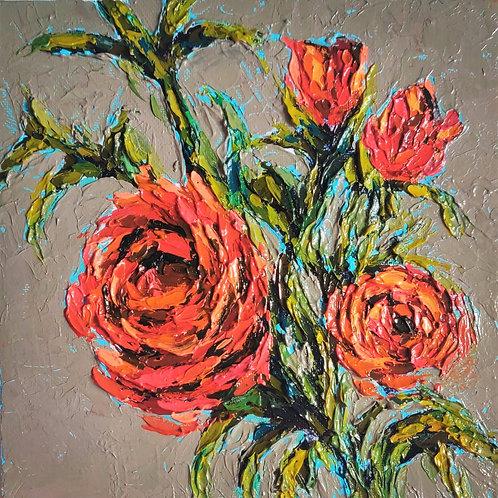 Original Painting 'Orange Roses'