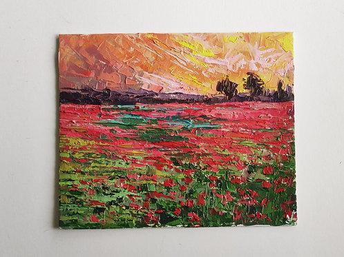 Original Painting 'Poppies On The Horizon'