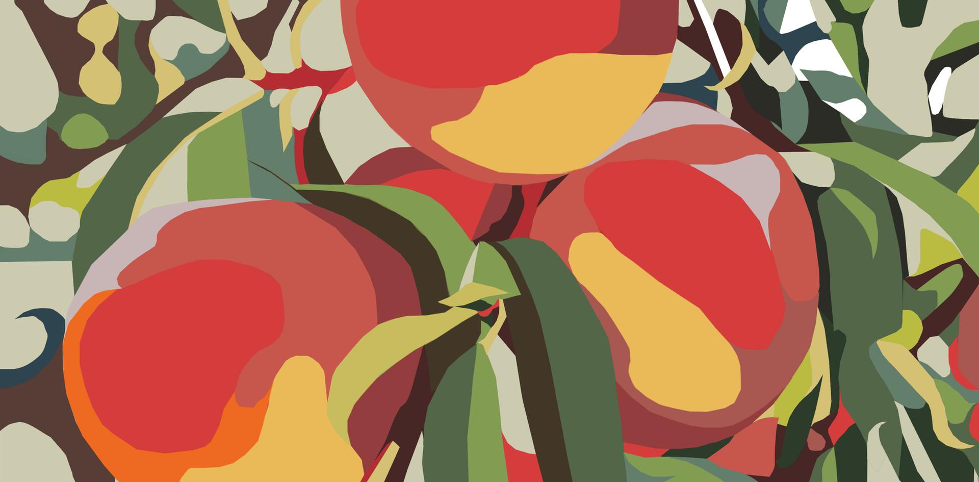 Peach Jungle Digital Art.jpg