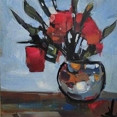 Original Painting 'Red Flowers'