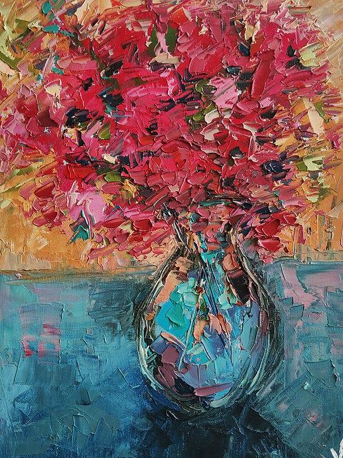 Original Painting 'Fuchsia Bouquet'