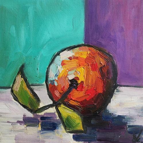 Original Painting 'Mirror Apple'