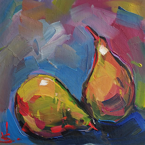 Original Painting 'Glowing Pears'