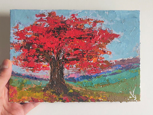 Original Painting 'Red Tree'