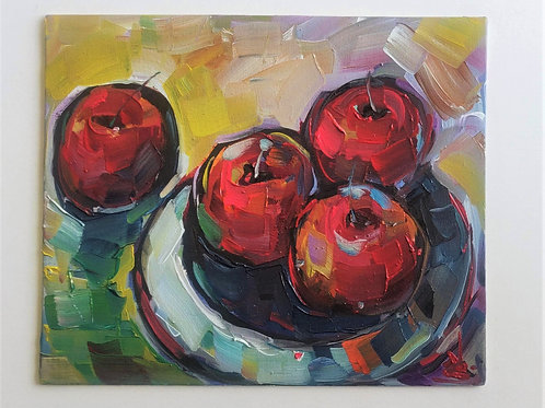 Original Painting 'Bowl Of Apples'