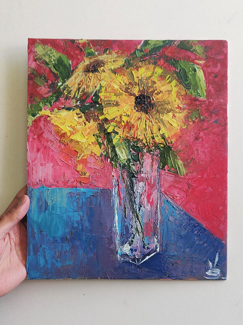 Original Painting 'Cocktail Sunflowers'