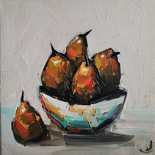 Original Painting 'Pear Fruit Bowl'