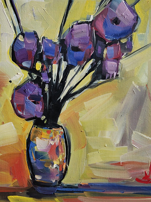 Original Painting 'Purple Flowers'