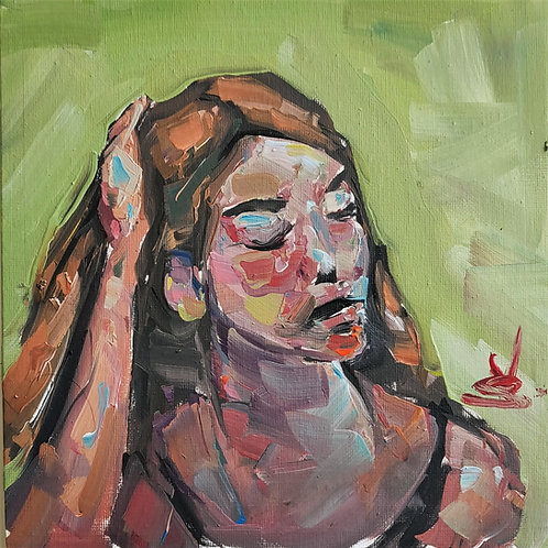 Original Painting 'Distressed Woman'