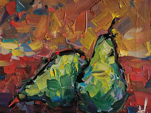 Original Painting 'Blue Pears'