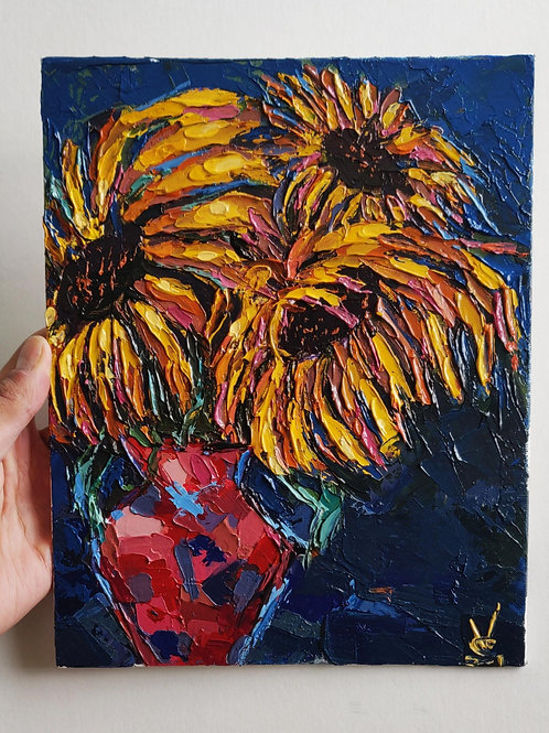 Original Painting 'Dancing Sunflowers'