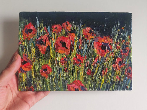 Original Painting 'Evening Poppies'