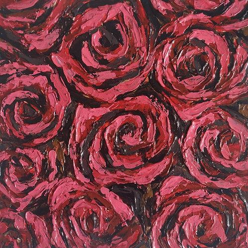 Original Painting 'Rose Tile'
