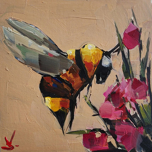 Original Painting 'Keeping Buzzy'