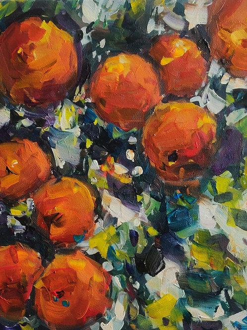 Original Painting 'Morning Orange Tree'