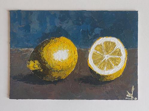 Original Painting 'Blue Wall Paper'