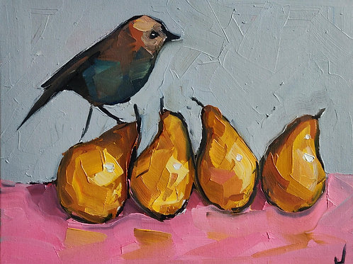 Original Painting 'Four Pears'