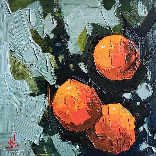 Original Painting 'Three Oranges'